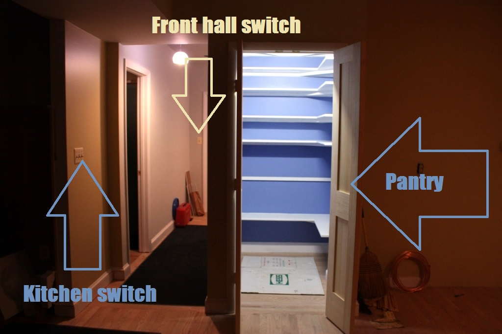 There Are 2 (of 3) Switches Pictured That Control The Mudroom Lights. (