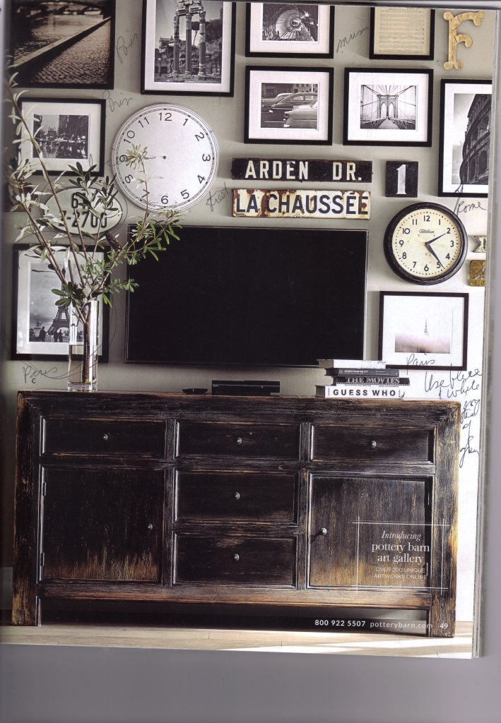 I have to really study this wall from Pottery Barn -- it's so interesting.