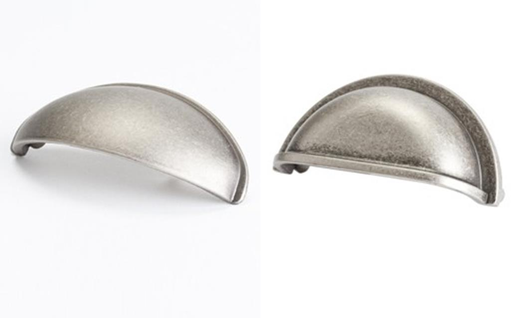 Berenson makes these 2 cup pulls in weathered nickel. - Choosing The Jewels: Cabinet Hardware – Let's Face The Music