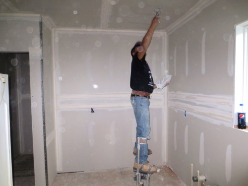 A team if professionals drywalled and mudded our kitchen and made it look easy.