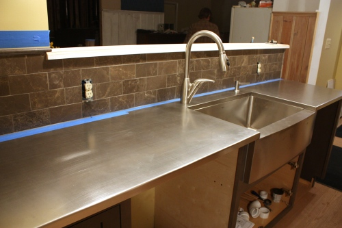 Stainless steel custom countertop