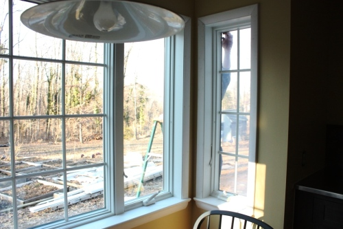 Lots of new windows were installed in the kitchen and conservatory.