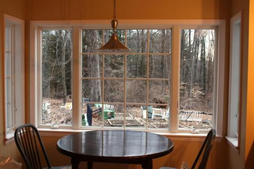 The casement windows also have screens that need to be installed.