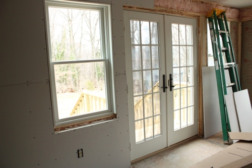 French doors on the conservatory and master bedroom.