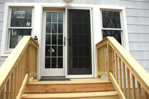 Conservatory French doors.