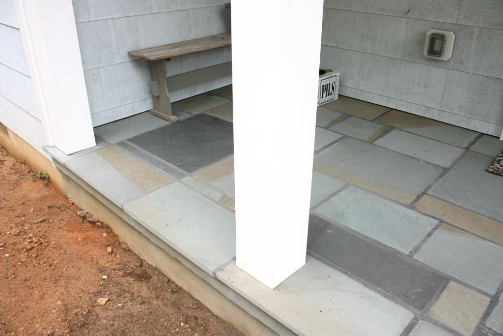 Bluestone porches finishing touch let 39 s face the music for Bluestone porch