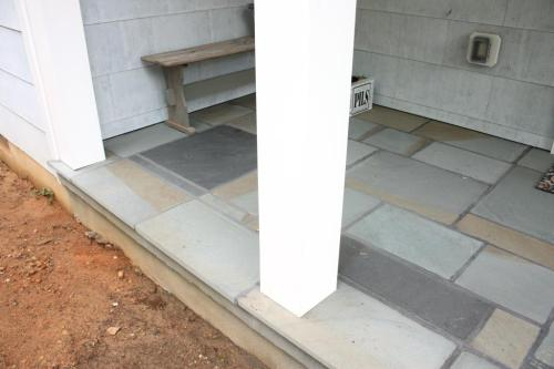 Bluestone porch decks.
