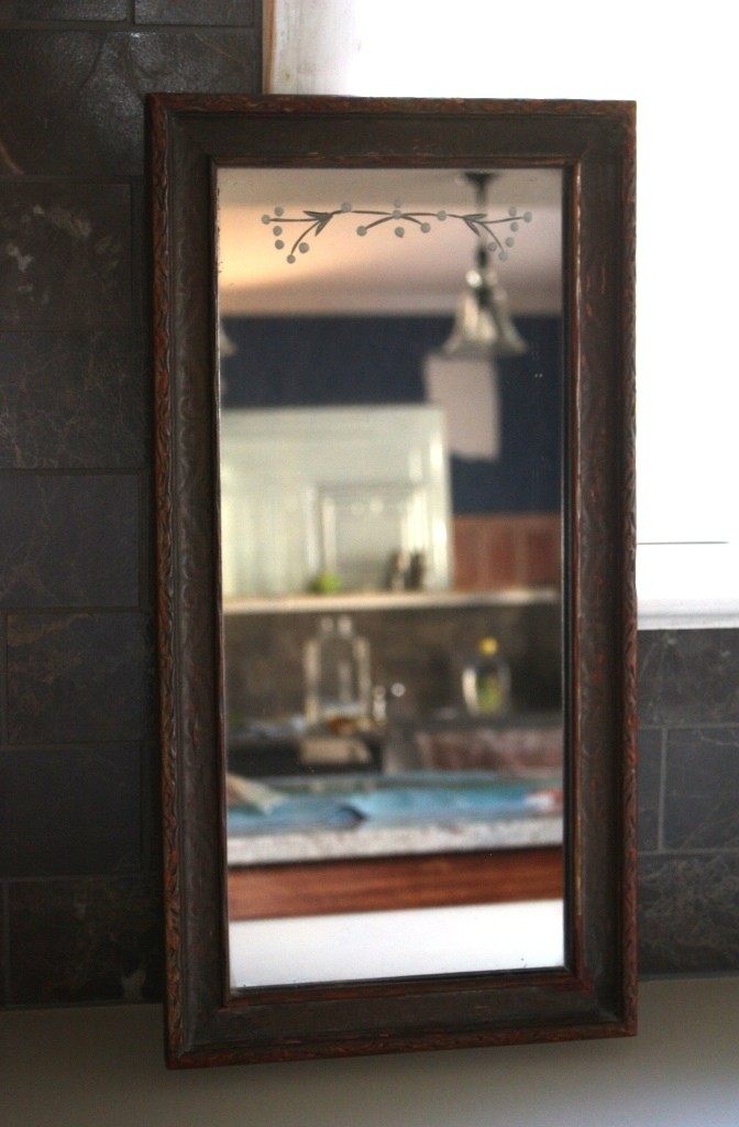 """This approximately 9' by 18"""" mirror would be perfect over my sink."""