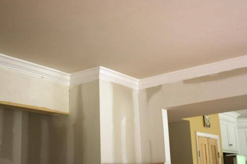 """The dining room ceiling is """"Revere Pewter"""" by Benjamin Moore."""