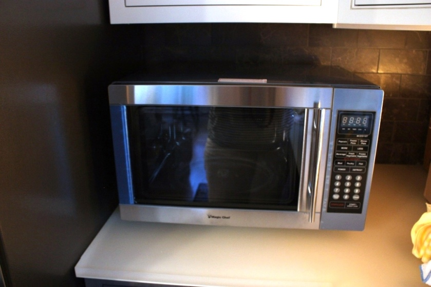 The microwave overheated and shut off.