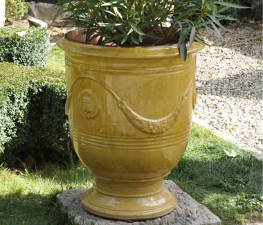 Naturally I adore this ochre planter from Provence.