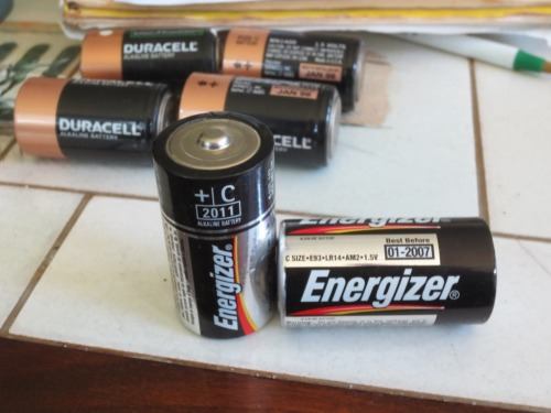 2007 and 2001 expired batteries