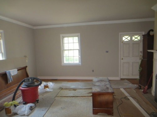 The living room is painted.