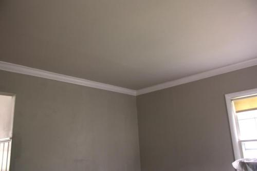 Edgecomb Gray on the ceiling, Revere Pewter on the walls.