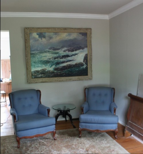 This large painting in the living room has always been on the second floor.