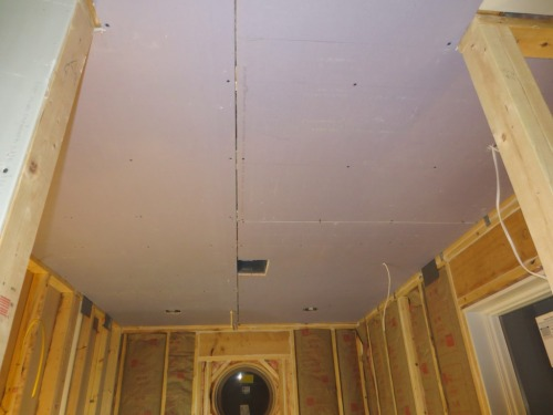 Now that the ceiling is finished the project should move along more quickly.