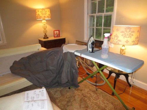 I often use my full-size ironing board when I'm sewing or have a major pressing project.
