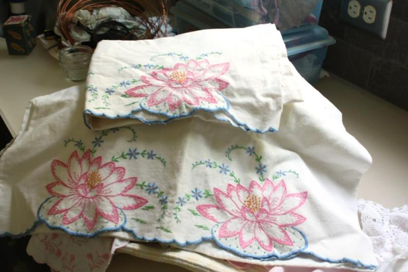 These are heavy cotton hand-embroidered pillow cases.