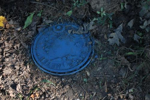 The new water meter lid is blue!