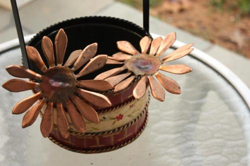 Copper sunflowers