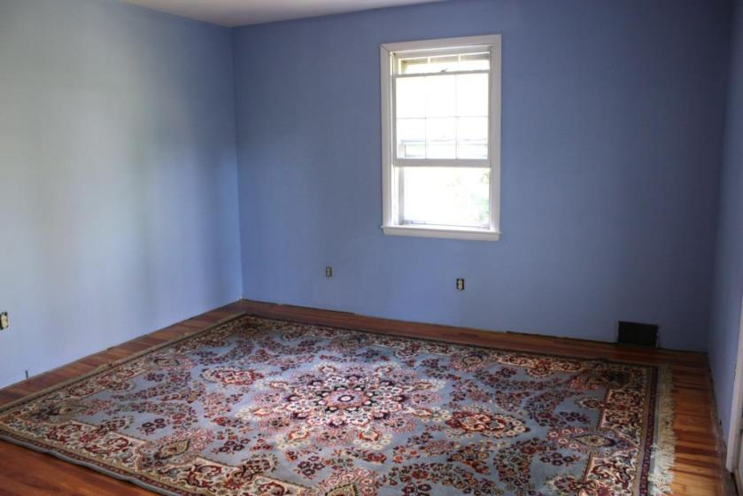 The rug in the master bedroom used to be in the dining room.