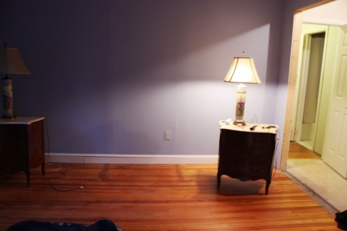 Can you see the break in the baseboard toward the left of the picture?