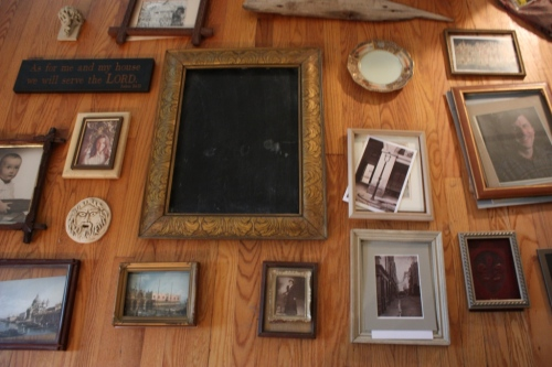 I like this frame so much I used it at the center of the gallery wall in the hall from the mudroom to the kitchen.
