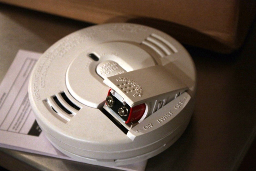 Smoke detector batteries should be changed annually, usually when we change to daylight saving time.  We're changing for the first time so we're a little ahead of schedule.