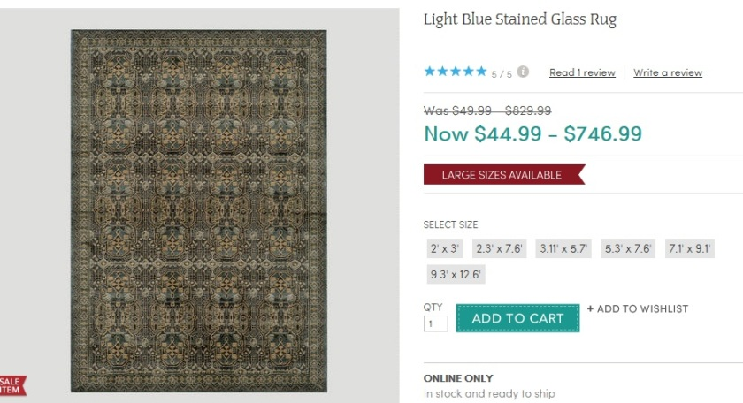 "I love this rug and it comes in a 9'-3"" by 12'-6"" size -- that would be perfect."