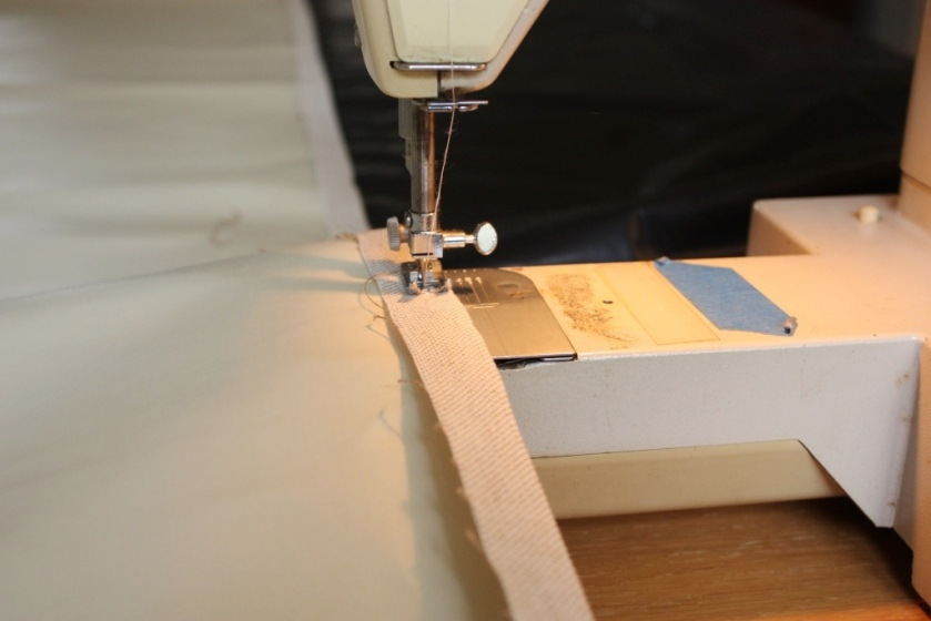 Other than the bulkiness this is not a difficult sewing chore.