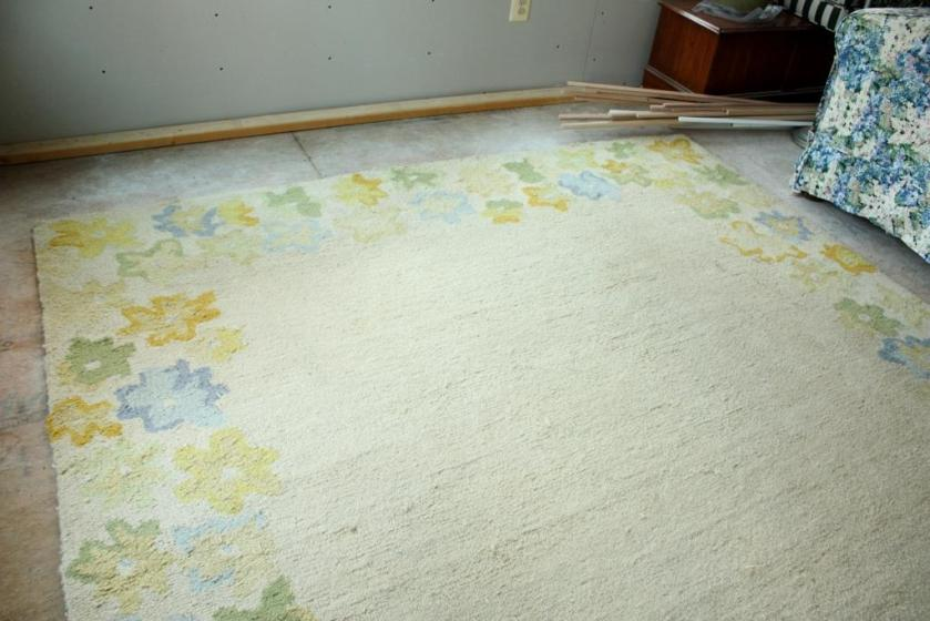 I'm crediting the homemade rug cleaner with the new brightness of this rug.