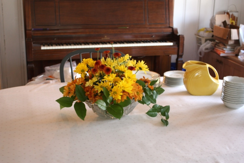 Dining room flowers
