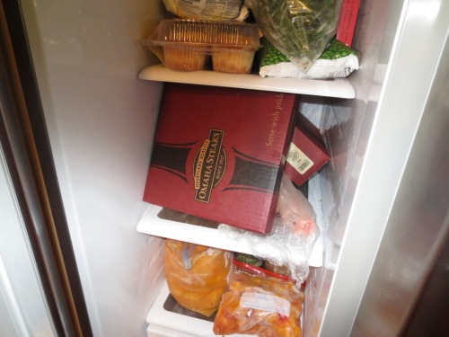 A full freezer is a boon for spontaneous dinner party.