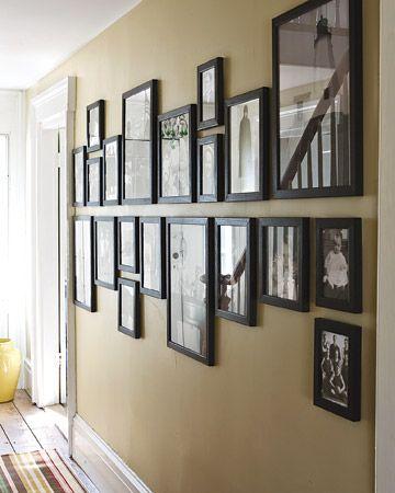 A Martha Stewart inspired gallery wall.