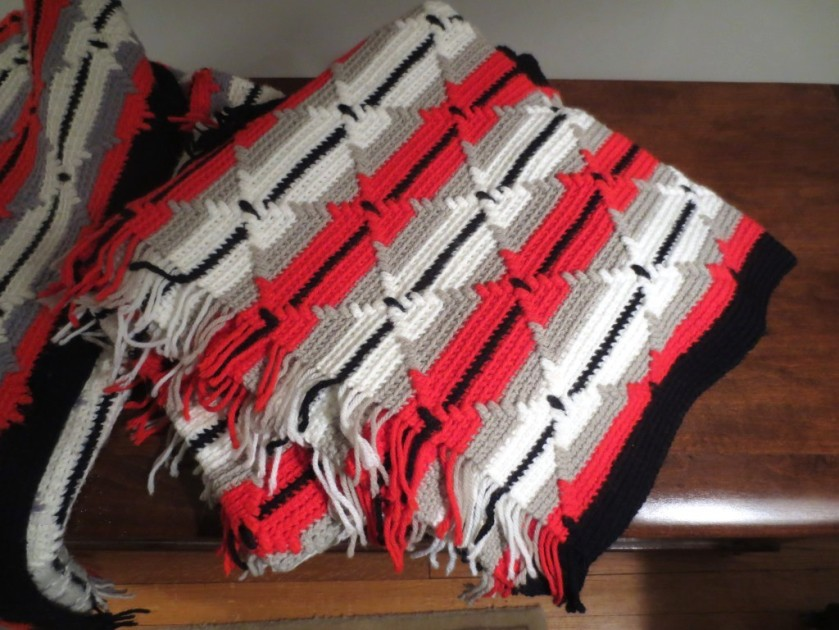 Close-up of the Navajo pattern