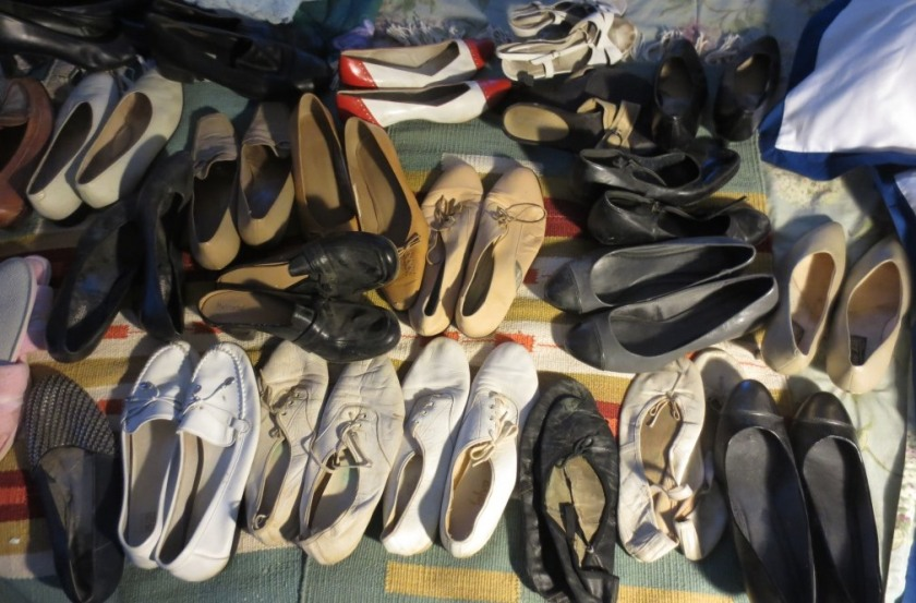 The bulk of my shoes.