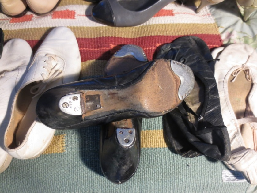 I knew you would love to see a close-up of my well-worn tap shoes  -- at least 35 years old.