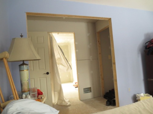 From approximately the same vantage point as the above photo, the master suite addition has been completed.