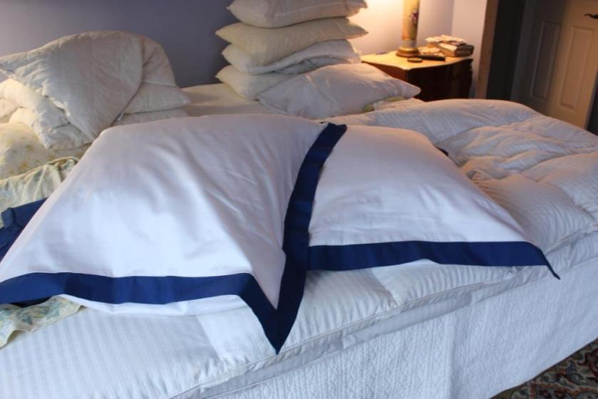 The covers fit the Ikea Gosa Tulpan pillow inserts perfectly.