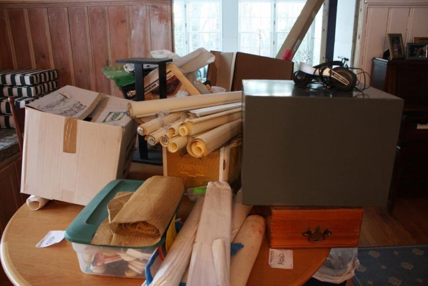 """Lots of items ended up in the """"mend"""" pile."""