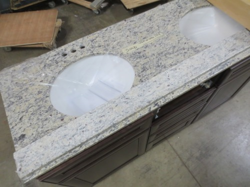 I would have purchased this granite double sink and cabinet if they were not already SOLD.