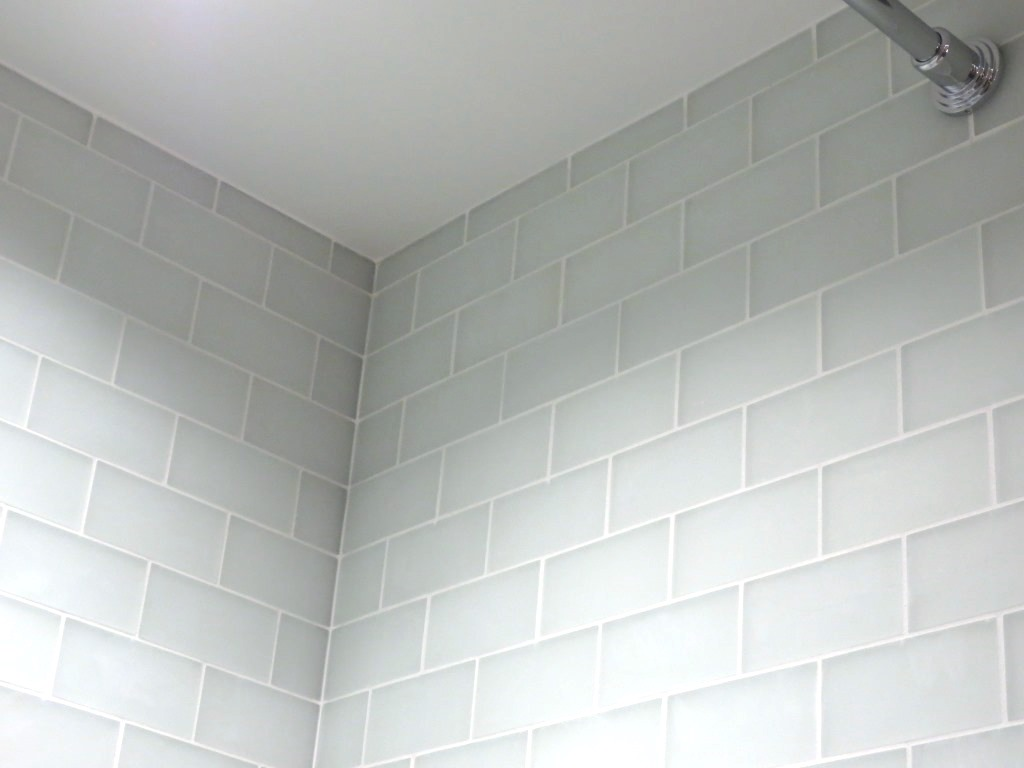 Bathroom tile order 3 lets face the music conservatory bathroom shower tile  snow frost glass subway ...