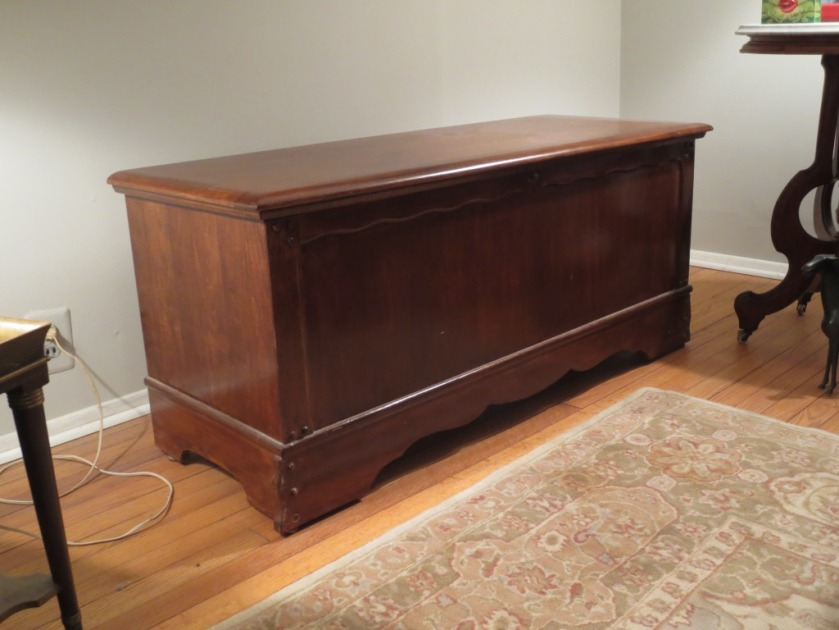 Refinished cedar chest ready for the next generation.