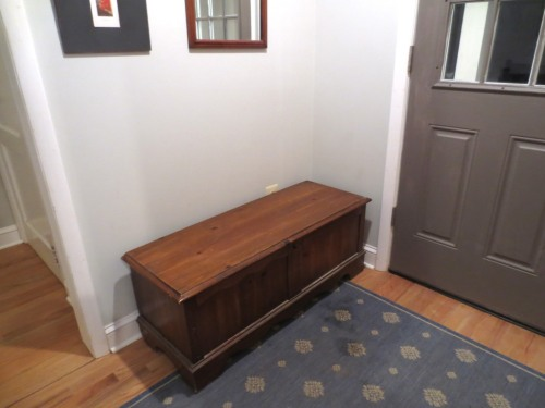 This is my smaller hope chest, not the one Charlie refinished.