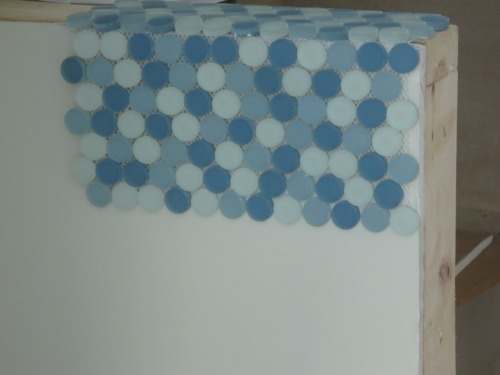 The conservatory shower wall accent tile.