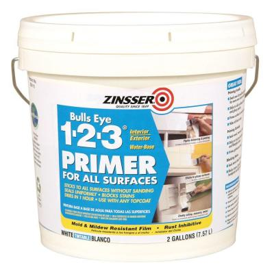 I buy the 2-gallon bucket of primer because it's easier to manage than the 5-gallon bucket and more convenient than the 1-gallon.
