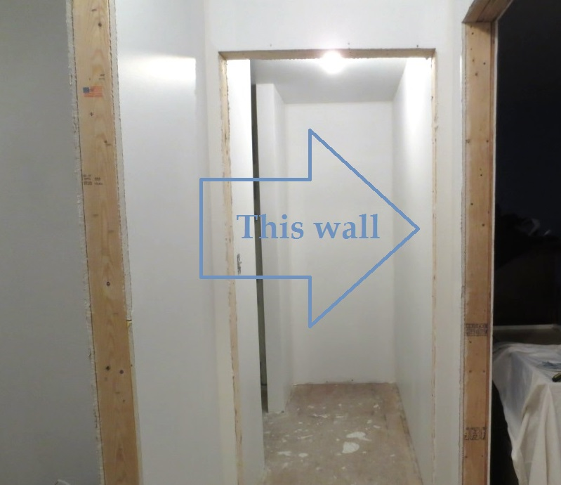 The hall wall is perfect for the mirror.