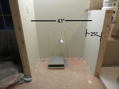 "The 19-1/4"" deep sink will sit well inside the 25"" niche."