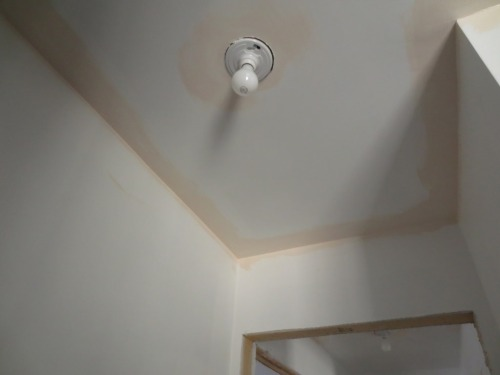 We've used pale pink on most of the ceilings on the second floor.