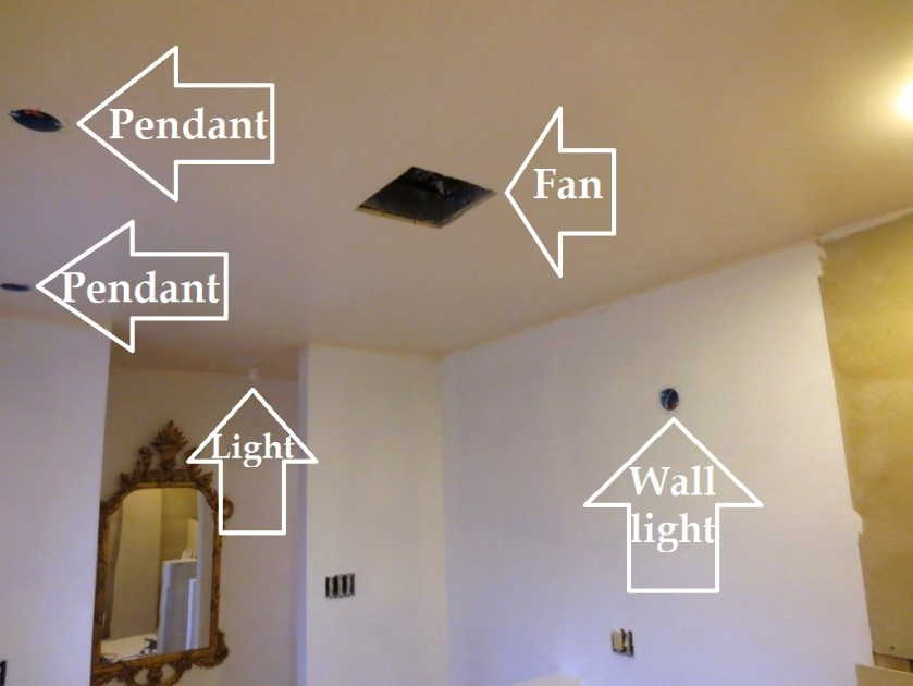 These bathroom fixtures will be visible simultaneously.